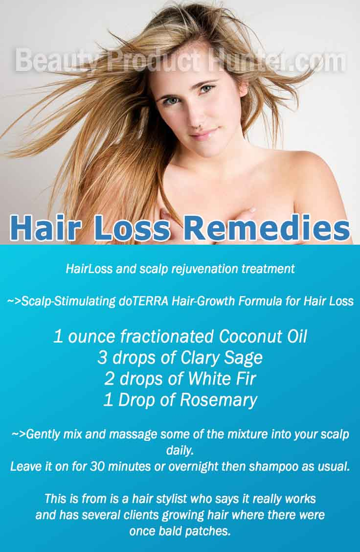 Diy Hair Loss Remedy Homemade Treatments And What Causes Hair Loss